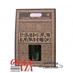 Caja de 3 botellas de sidra natural asturiana Basilio