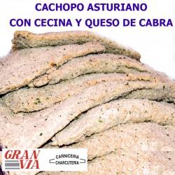 Cachopo asturiano de jamón ibérico y queso de cabra 400 gr.